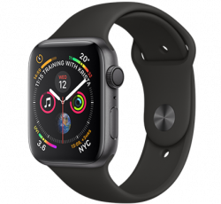Free Apple Watch Series 4 40mm Space Grey Aluminium Case with Black Sport Band