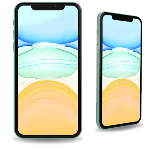 Apple iPhone 11 side and front view