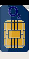 O2 Sim Card front image